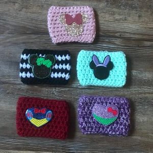 Bundle of Five Disney Themed Cup Coffee Cozies